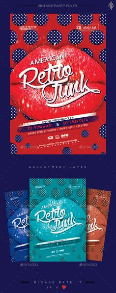 Retro Party Flyer Template PSD. Download here: http://graphicriver.net/item/retro-party-flyer/15907626?ref=ksioks