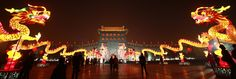 lantern festival for the year of the dragon - xi'an, shaanxi province