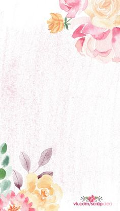 Unique Wallpaper, Iphone Wallpaper, Watercolor Illustration, Floral Watercolor, Floral Prints, Art Prints, Note Paper, Flower Backgrounds, Bullet Journal Inspiration
