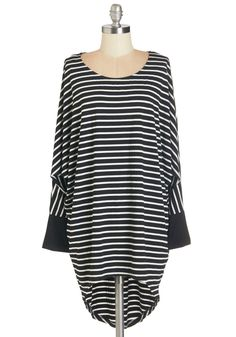 Keep Things Straightforward Top. Keep your day uncomplicated by donning this long striped top. #black #modcloth