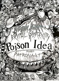 Poinson Idea punk hardcore flyer