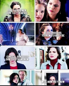 Thank goodness someone finally did this bc Regina reminds me of Elsa so much!!!!! Frozen + ouat