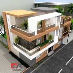 Modern Double Floor House in 5 Cent Plot 1200 for 12 lakh Concept Models Architecture, Architecture Design, New House Plans, Modern House Plans, House Front Design, Modern House Design, Home Interior Design, Exterior Design, Townhouse Designs
