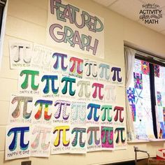Celebrating Pi Day in Secondary Math Classroom. How to incorporate the most popular irrational number into your math lessons for middle school! Quick and easy pi day activities are listed to help you celebrate with your students! Middle School Activities, Middle School Classroom, Math Classroom, High School, Classroom Displays Secondary, Secondary Math, Numero Pi, Happy Bride, Graphing Activities