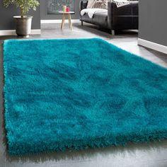 Shaggy carpet Erickson in turquoise Rosdorf Park Rug size: Rectangular 200 x 290 cm Purple Carpet, Green Carpet, Black Carpet, Modern Carpet, Carpet Colors, Turquoise Rug, Pink Rug, Bedroom Carpet, Living Room Carpet
