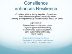 Consilience Enhances Resilience