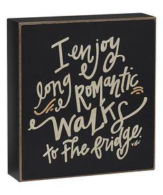 Long Romantic Walks Box Sign
