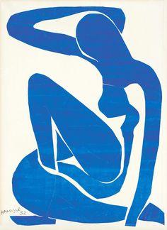 Henri Matisse. Mavi Nü I, 1952. Bu tablonun canvas baskısını edinmek için resme tıklayınız. #canvastar #canvas #tablo #tablolar #baskı #resim #ressamlar #dekorasyon #tuval