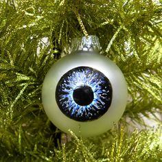 """Unusual Christmas Ornament  spooky eye Christmas - """"Unusual"""" is one word for it..."""