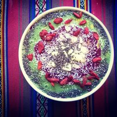 green smoothie for my temple!