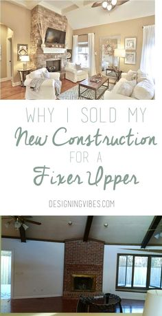 Read here why I sold my new construction home for an outdated ranch home, fixer upper. DIY home transformation