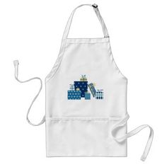 Hanukkah Gifts Adult Apron - kitchen gifts diy ideas decor special unique individual customized