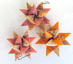 Vintage Moravian Wax Paper Star Ornaments with by teresatudor, $6.50