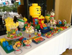 LEGO Themed Birthday Party | Legos Birthday Party Ideas | Photo 2 of 19 | Catch My Party