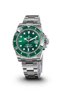 """Rolex """"Submariner Date"""" en acier, cadran vert (montre homme)"""
