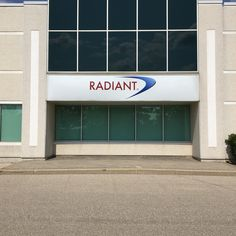 Made & installed by Signarama Dixie for Radiant Logistics Company #signarama_dixie #sign_company #signage #sign_maker #channel_letter #business_sign #custom_sign #outdoor_sign #radiant Outdoor Signs, Outdoor Decor, Channel Letters, Sign Maker, Sign Company, Business Signs, Signage, Garage Doors, Home Decor