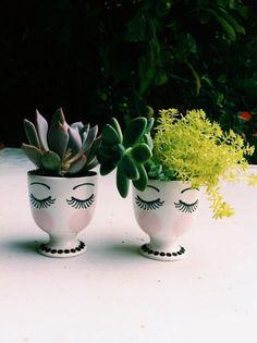 Egg cup planters | Justina Blakeney | VSCO Grid