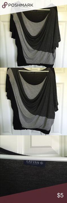 Black & Gray shirt Layered look Black & Gray shirt Lavish Tops