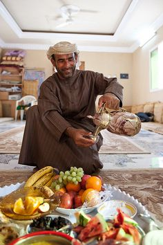 hospitality is value on every Omani citizen. Coffee and few dates on fruit is must on every house you visit from the richest to the poorest person around the country. There is no Omani citizen that runs of coffee and fruit and they take it as offense if you do not have a bit of their coffee or fruits.
