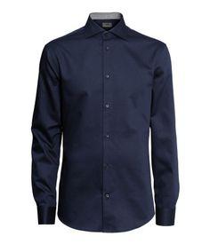 H&M Camisa en algodón premium $ 19.990