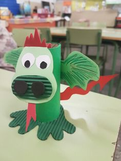 Toilet Paper Roll Crafts, Paper Crafts For Kids, Arts And Crafts, Dragon Knight, Dragon Party, Animals For Kids, Toddler Activities, Origami, Dinosaur Stuffed Animal