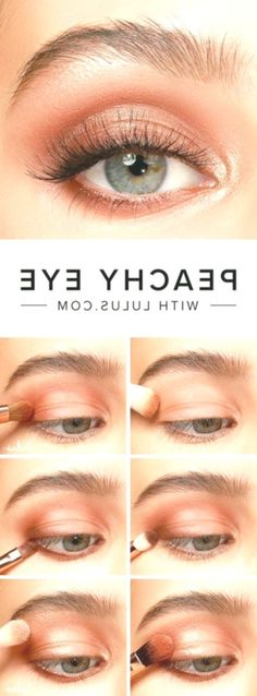 makeup tips Achieve a pretty, but easy eye makeup look with our Peachy Eyeshadow Tutorial! Achieve a pretty, but easy eye makeup look with our Peachy Eyeshadow Tutorial! Dramatic Wedding Makeup, Dramatic Eye Makeup, Dramatic Eyes, Simple Eye Makeup, Smokey Eye Makeup, Eyeshadow Makeup, Natural Makeup, Smoky Eye, Peachy Eyeshadow