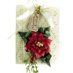 Must get the new Layered Poinsettia Spellbinders die!