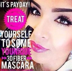 Is it #payday #friday?! Have u tried the #younique #mascara #3D #fiberlash? What are u waiting on?! There's a 14 day #loveit #guarantee! You have nothing to lose, but everything to gain. Order now @ www.flashinlashes.com. Find out what all the #hype is about. #today #Friday #getready #getyours #date #night #weekend #eyepigments #eyeliner #lipliner #lipgloss #beautiful #beauty #gorgeous #loyalty #program #hot #items