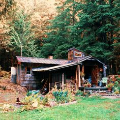 off grid tiny cabin. Off Grid, Cabins In The Woods, House In The Woods, Little Houses, Tiny Houses, Wooden Houses, Cabins And Cottages, Log Homes, Small Places