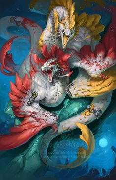 2014 Zodiac Dragons - Pisces by The-SixthLeafClover.deviantart.com on @deviantART