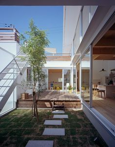 ABCモデル | ソラマド写真集 Courtyard House Plans, Minimalism Interior, Home Building Design, House Design, Ideal Home, Small House Design, Japanese Modern House, Interior Architecture Design, Courtyard House