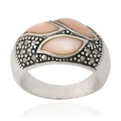 The ring is beautiful and shinier than in the picture. http://www.amazon.com/dp/B003XQESG0/ref=nosim?tag=x8-20