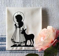"""Stickdatei  """"Engel mit Rehkitz...."""" von  """"FeinKram""""  hier gibt es die schönsten Scherenschnitt StickDateien ;-))) auf DaWanda.com"""