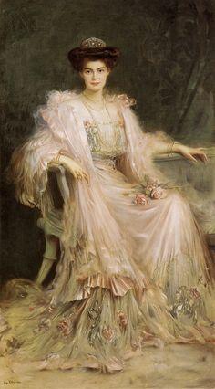 Countess Carolina Maraini Sommaruga, detail, by Vittorio Matteo Corcos, date unknown. - Google Search