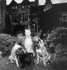 Sting and his dogs. (1996-97?)