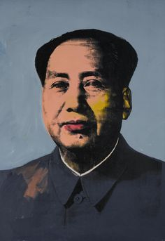 Andy Warhol, Mao (1972), will be offered at Sotheby's on November 11.  Estimate: Around $40 million. Image: Courtesy of Sotheby's.