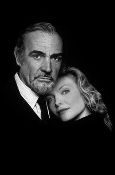 """#Sean Connery and #Michelle Pfeiffer in """"La casa Russia"""" (The Russia House) 1990,film diretto da Fred Schepisi."""