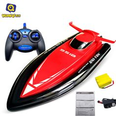 Huanqi 40CM Big Size 2.4G RC Boat for children Electric Motorboat 4CH Model Ship Remote Control RC Boat Speedboat RC Toys