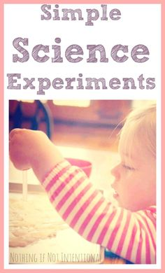 Simple science experiment using household ingredients.