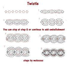 tangle pattern 'twistle' | sandra kay strait @ life imitates doodles #zentangle #twistle