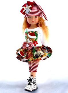 """~A Happy Puppy Christmas!~Holiday Outfit for 13"""" Effner Little Darling by Sharon"""