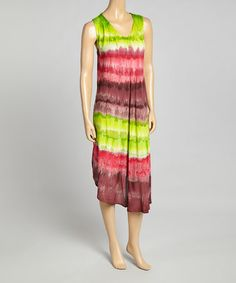 Another great find on #zulily! Lime Stripe Shift Dress #zulilyfinds