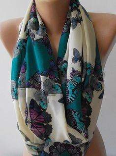 ON SALE  Infinity Scarf Loop Scarf Circle Scarf  It made by womann, $16.00