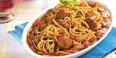 Espaguete com almôndega