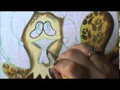 Galinha cozinheira - pintura em tecido - projeto