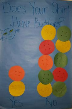 Pete the Cat: My Four Groovy Buttons - graph who has buttons on their shirt and who doesn't