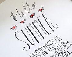 watermelon summer_hand ettering