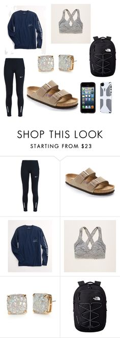 """""""school day"""" by ashtonrodriguez on Polyvore featuring NIKE, Birkenstock, Vineyard Vines, Aerie, Kate Spade and The North Face"""