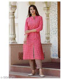 Kurta Sets Aishani Ensemble Women Kurta Sets Kurta Fabric: Cotton Bottomwear Fabric: Cotton Fabric: Cotton Set Type: Kurta With Bottomwear Bottom Type: Pants Sizes: XL (Bust Size: 42 in, Kurta Length Size: 42 in)  L (Bust Size: 40 in, Kurta Length Size: 42 in)  XXL (Bust Size: 44 in, Kurta Length Size: 42 in)  XXXL (Bust Size: 46 in, Kurta Length Size: 42 in)  Country of Origin: India Sizes Available: S, M, L, XL, XXL, XXXL   Catalog Rating: ★4 (683)  Catalog Name: Aakarsha Superior Women Kurta Sets CatalogID_2422201 C74-SC1003 Code: 593-12543472-759