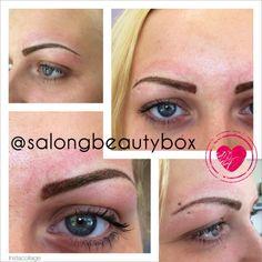 Ny tatuerade ögonbryn färgen kommer att lägga sig om några dagar.